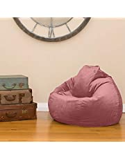 Regal In House Velvet Bean Bag Chair Medium - Light Pink