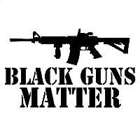 XLYDF 19.3cm * 11.4cm AR-15 Black Guns属性2秒の補正漫画デカール面白いアクセサリー車のステッカー黒のスライバ (Color Name : BLACK)