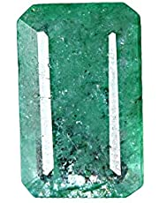 GEMHUB Esmeralda verde natural de 5,50 quilates, corte brillante, certificado facetado, piedra preciosa suelta para hacer joyas y manualidades.