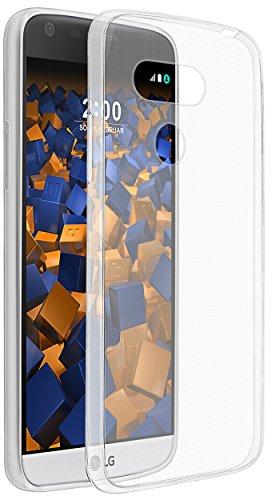 mumbi Hülle kompatibel mit LG G5 Handy Hülle Handyhülle dünn, transparent weiss