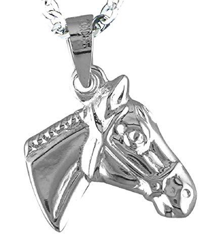 Alylosilver Collar Colgante Cabeza de Caballo de Plata para Mujer - Incluye Cadena de Plata de 45 cm y Estuche para Regalo