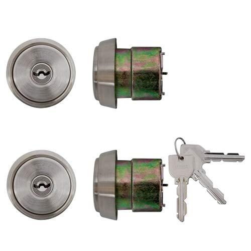 LIXIL(リクシル) TOSTEM ドア錠セット(MIWA U9シリンダー) ヘアーライン N2EZ0011