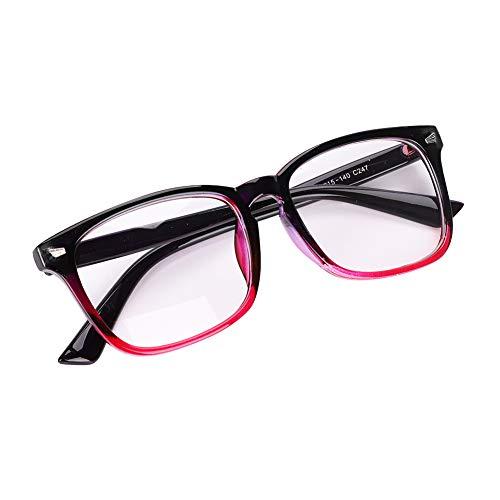 ITODA Brille Ohne Stärke Nerdbrille Vintage Brillenfssungen Damen Herren Dekobrille mit Brillenetui Streberbrille Klassisch Pantobrille Ultraleicht Slim-Brille Hornbrille für Erwachsene Teenager