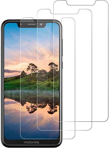 DOSNTO Protector de Pantalla para Motorola One, [3 Unidades ] Cristal Vidrio Templado Premium Motorola One [Anti-Arañazos] [Sin Burbujas] [Kit Fácil de Instalar] [Dureza 9H] [Alta Definicion]