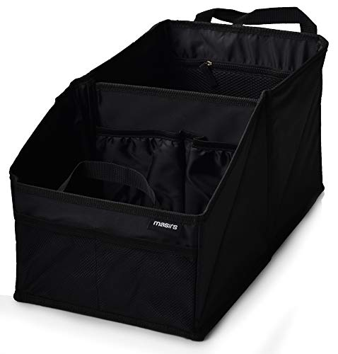 Back Seat Car Organizer - Plenty of Space to Neatly Store and Organize your Kids Books, Toys, Games and Snacks while Traveling. A Must for Long Road Trips. Folds Flat for Easy Trunk Storage.