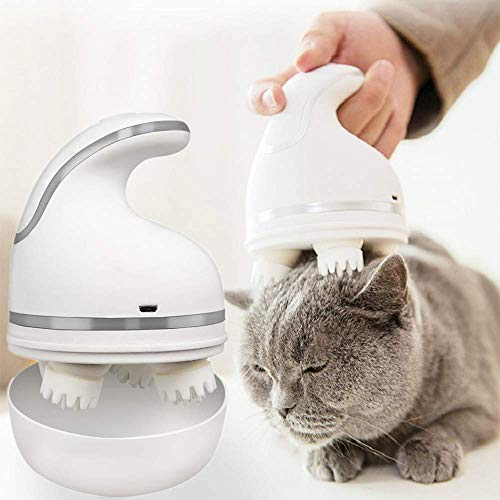 MESINURS Cat Electric Head Massager - Pet Scalp Head Full Body Massager Handheld Home Therapy Accelerates Healing and Stress Release, Pain Relief in Dogs, Cats