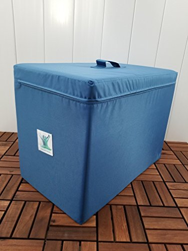Pain Free-Posture Large Foam Block (Large)- Egoscue Box- Ottoman- New Harder, Solid & Stronger Density- Waterproof- Practical Handle & Removable Zipper Cover- Reduce Lower Back, Hip, Knee, Ankle Pain