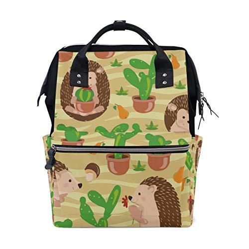 Hérisson Cactus Need Hug Sac à langer Grand sac à langer de voyage pour allaitement