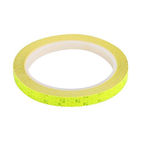 2 Rollen Fahrrad Reflektierende Aufkleber Radfahren Sicherheit Rad Sicherheits-Klebeband Streifen Band für Auto Motorrad Radfahren Fahrrad(Gelb)
