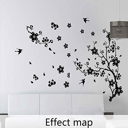 Pflaumenblüte Schwalben Wandtattoo chinesischen Stil Wandtattoo Deko Wanddeko für Home Room