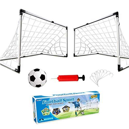 2Pcs Kids Football Goal Post Net, Pop Up Goals Plegable Y Portátil Soccer Goal Net Niños Training Practice Toy Set