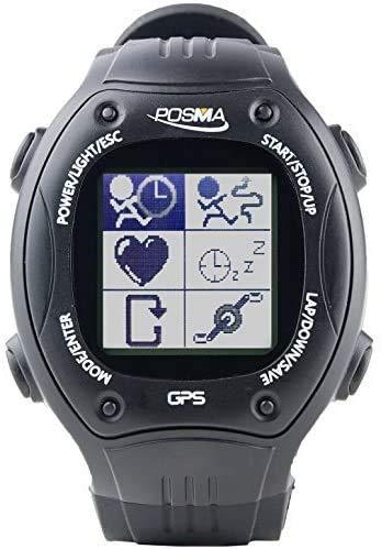 ShopPro Posma W2 GPS-Navigationsgerät, Laufen, Radfahren, Wandern, Multisport-Uhr mit ANT+ Kompatibilität, Strava MapMyRide/MapMyRun