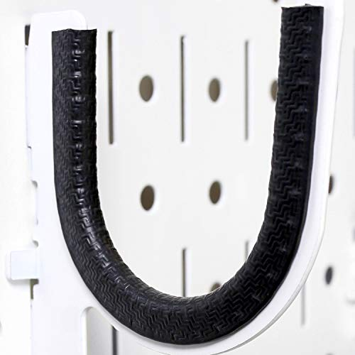 Rubber Hook Liner for Wall Control Slotted Pegboard Hooks and Brackets - Easy to Apply Protective Rubber Coating Liner for Wall Control Brand Peg Hooks Only - 3 Feet of Rubber Hook Liner (Black)
