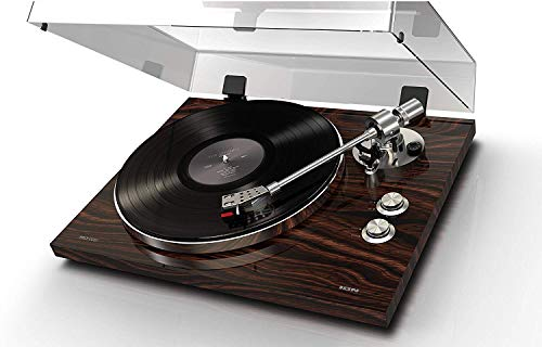 ION Audio PRO500BT - Exquisitely Crafted 2-Speed (33 1/3 RPM and 45 RPM) Belt Drive Turntable With Wireless Bluetooth Streaming Capability, Built-in switchable phono pre-amplifier and USB conversion