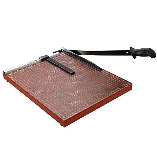 Paper Trimmer A3 Paper Cutter Heavy Duty Photo Guillotine Craft Machine 12 inch Cut Length/A3-Red/18.9' x 15.0'