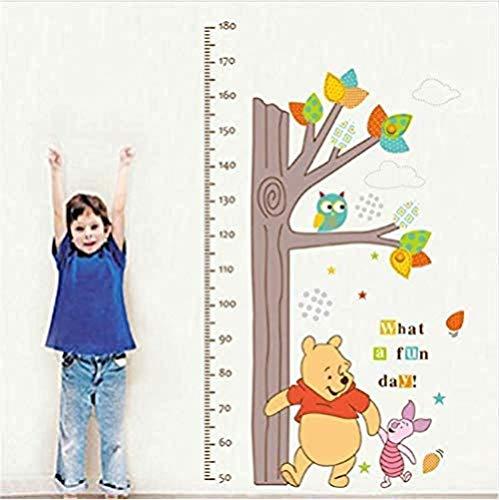 Enfant Hauteur Mesure Croissance Graphique Arbre Winnie L'Ourson Hibou Wall Sticker Salon Enfants Chambre Décor À La Maison Stickers Muraux