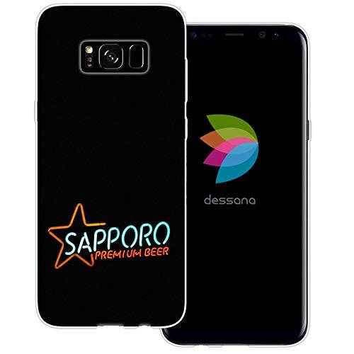 dessana Japan Sightseeing transparante beschermhoes mobiele telefoon case cover tas voor Samsung Galaxy S Note, Samsung Galaxy S8 Plus, Sapporo Bier