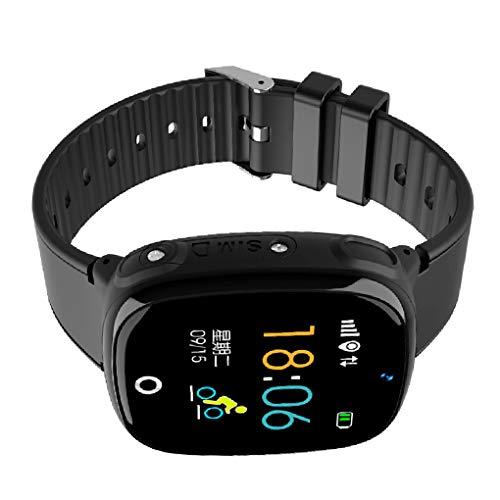 Waterdichte kinderen Kind slimme horloges Vierkante wijzerplaat Touchscreen Smartwatch Anti-verloren tracker Baby GPS-polshorloge Telefoon