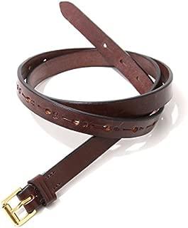 """JABEZ CLIFF(ジャベツクリフ) CB002 1 12""""Long Saddle Leather Belt 20hole (レザーベルト)"""