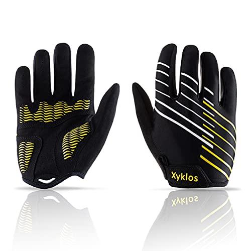 Xyklos® Rękawiczki rowerowe dla mężczyzn zapewniające optymalną jazdę na rowerze i trening, rękawiczki rowerowe damskie z perfekcyjnym dopasowaniem – rękawiczki rowerowe z żelową wyściółką