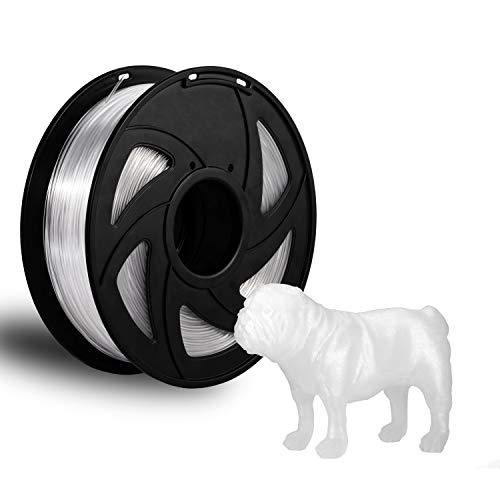 3D Printer Filament PETG Clear Filament 1.75mm 1kg PETG Transparent Consumables 1kg Clear Filament Spool XVICO