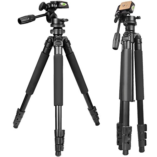Gosky Tripod -Travel Portable Tripod for Spotting scopes, Binoculars, camcorders, or SLR Cameras (Pro Tripod (61-inch))