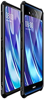 Protect your Phone, Aluminum Frame and Tempered Glass Back Plate Case for VIVO NEX 2 (Color : Black)