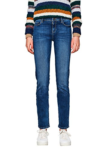 ESPRIT Damen 997EE1B812 Straight Jeans, 902/BLUE MEDIUM WASH, 28W / 30L