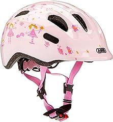 ABUS Unisex Youth SMILEY 2.0 Kask rowerowy, księżniczka róży, S