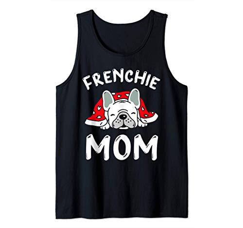 Frenchie Mom Camisas para mujer Funny French Bulldog Mama Camiseta sin Mangas