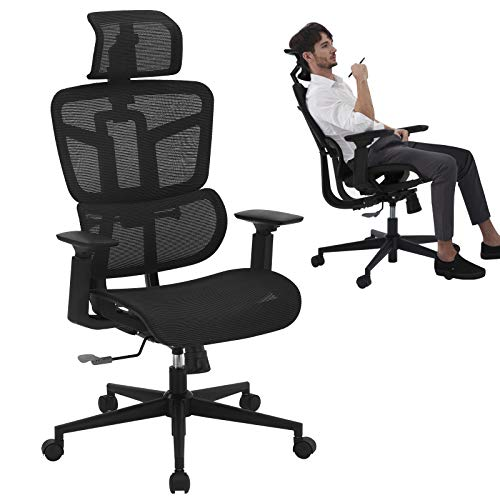 SAMOFU Adjustable Headrest Ergonomic High Back Office Chair