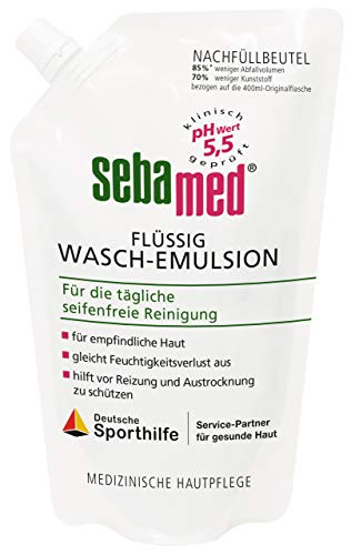 Sebamed Flüssig Wasch-Emulsion Nachfüllpack, 400ml