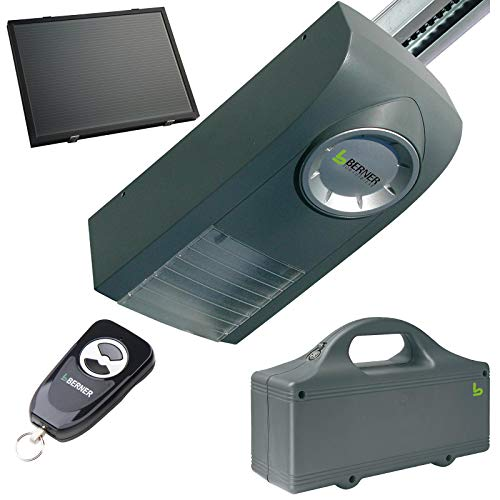 Berner Garagentorantrieb GA101 Akkubetrieb Optional auch mit Solarpanel (GA101 mit Solarpanel Akku und K-Schiene)