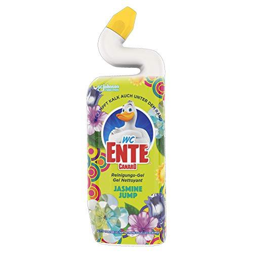 WC-Ente Total Aktiv Gel, Flüssiger WC-Reiniger, Toilettenreiniger, Jasmine Jump, 750 ml