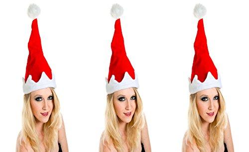 3 er Set Weihnachtsmütze Nikolausmütze Singend Tanzend Musik Wackelt hin und her X49