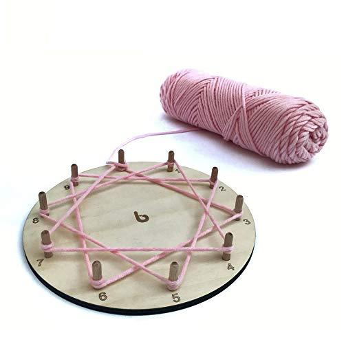 BOBOTO Cerchio delle TABELLINE in Legno per LA MOLTIPLICAZIONE Materiale Montessori Matematica Gioco Creativo Intelligente Regalo per Bambini