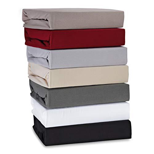 Hometex premium textiel hoeslaken hoeslaken tot 30 cm hoogte | lakens van 95% katoen 5% elastaan 180g/m2 - premium kwaliteit Öko-Tex Standard 100 |