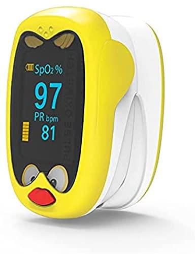 Ewendy Monitor de saturación de oxígeno en Sangre del oxímetro de Pulso pediátrico para niños Monitor sats de yema de los Dedos para niños, Sensor Spo2 para niños