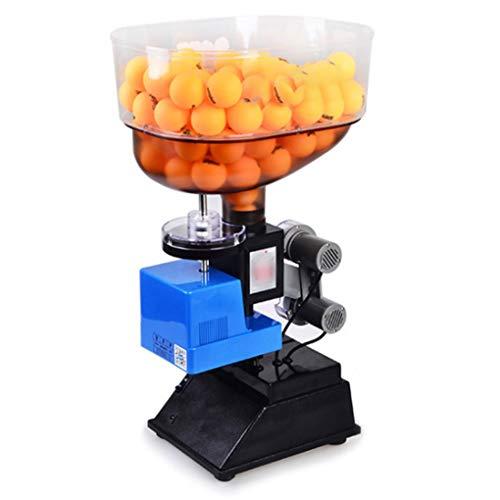 Robot De Entrenamiento Máquina de Ping Pong y máquina de Bolas con función de Control Remoto/Curvatura de Base Ajustable/Interruptor de Ajuste Inteligente, Seguro - Adecuado para Juegos en Inter