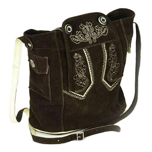 Alpin-Trachten Trachtentasche Dirndltasche Tasche Lederhose At-12 (Dunkelbraun)