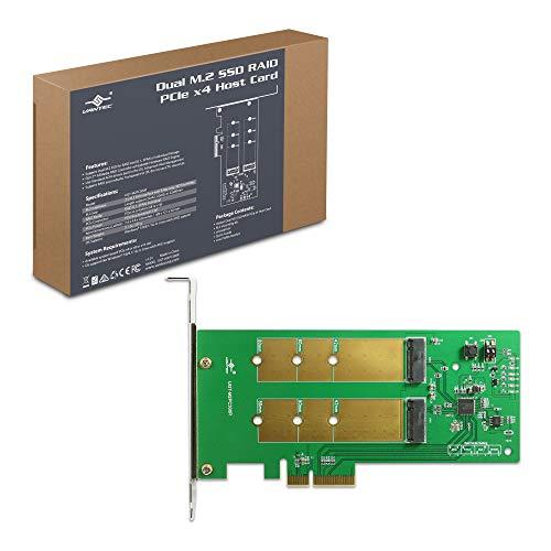 Vantec Dual M.2 SSD RAID PCIe x4 Host Card (UGT-M2PC300R), Green