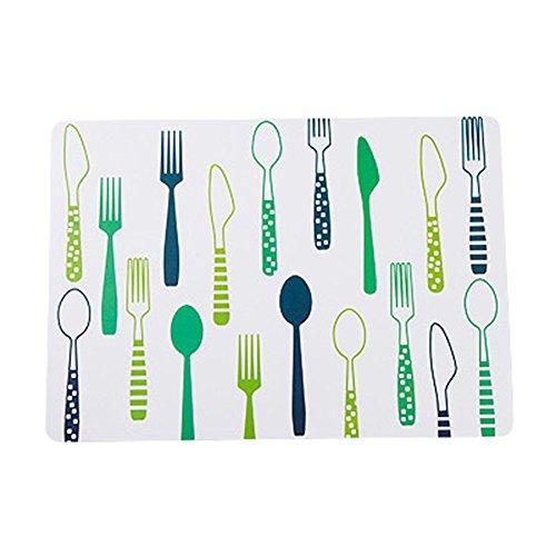 Milopon Set de table rectangulaire en polypropylène pour Home Hotel 40 x 28 cm, vert, 40cm*28cm