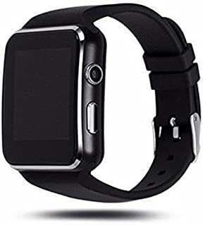 WELLTECH X6 Bluetooth Smartwatch with Camera and SIM Card Support, Apps, Pedometer, Sedentary Remind and Sleep Monitoring for Smartphones (Black)