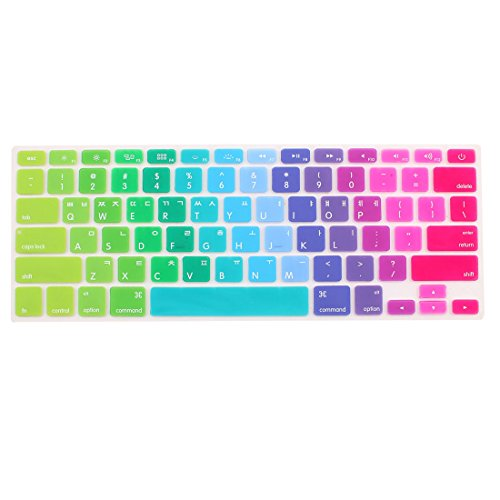 sourcing map Koreanisch Tastatur Hülle Abdeckung Multicolor für MacBook Air 13 15 43.2cm DE de