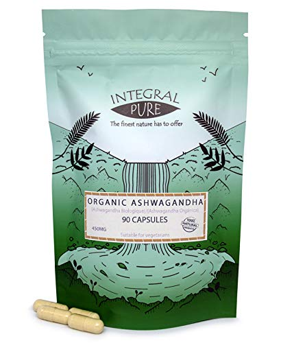 Ashwagandha Vegi Capsules (Organic) (450mg)- Various Sizes (30)