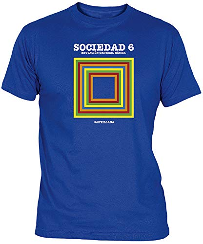 Camisetas EGB Camiseta Libros EGB Adulto/niño ochenteras 80´s Retro (XL, Azulón)