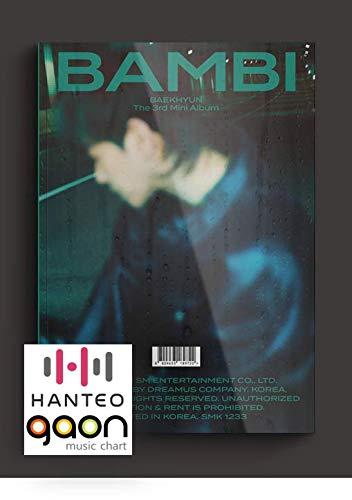Dreamus Exo Baekhyun - Bambi [Photobook Night Rain ver.] (3rd Mini Album) [Pre Order] CD+Photobook+Folded Poster+Others with Tracking, Extra Decorative Stickers, Photocards