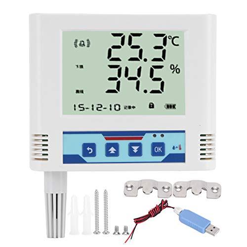 Fdit Registrador de transmisión de Temperatura y Humedad WiFi Sensor de Humedad de Temperatura Remoto inalámbrico Medidor Digital