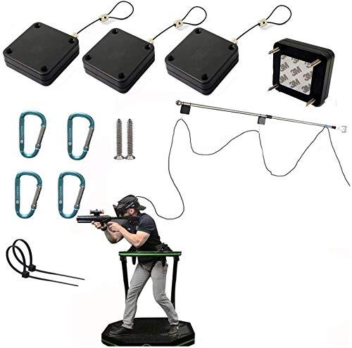 VR Kabelmanagement/Deckenrolle für HTC Vive Pro Virtual Reality/Oculus Rift/PS VR/Samsung Odyssey Plus VR Zubehör (Leitungslänge kann bis zu 4 Meter betragen)