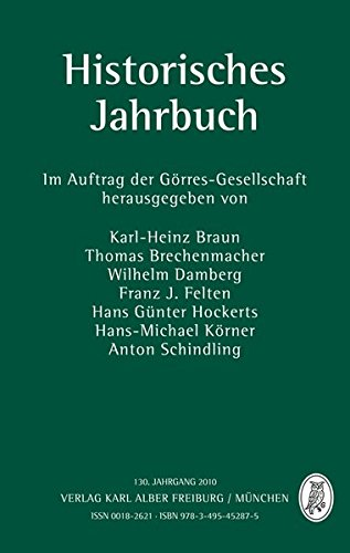Historisches Jahrbuch 2010: 130. Jahrgang